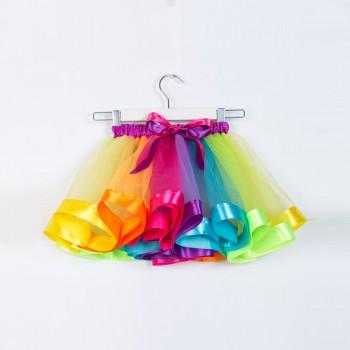 Beautiful Rainbow Tutu Skirt for Baby Girl