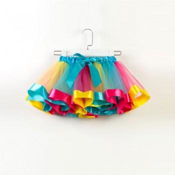 Bright Rainbow Tutu Skirt for 2-7 Years Girls