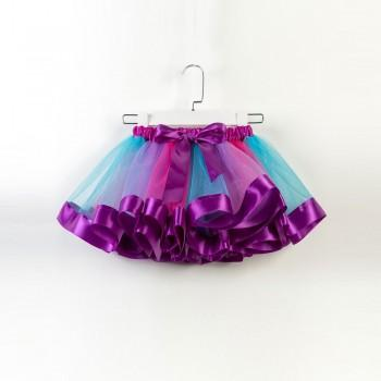 Pretty Bow Decor Tutu Skirt in Purple for Toddler Girl and Girl
