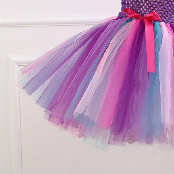 Fairy Strap Tullu Dress and Unicorn Hairband Set for Girls