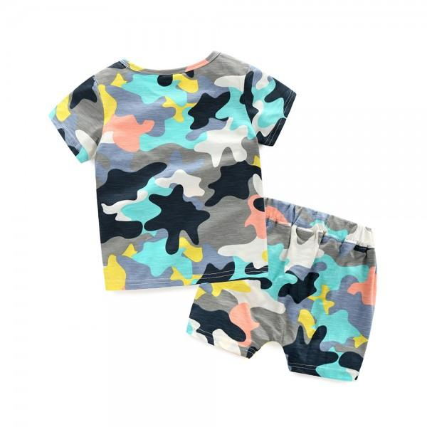 2-piece Camouflage T-shirt and Shorts for Boys | PatPat