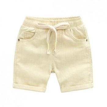 Casual Solid Drawstring Design Shorts for Baby Boy and Boy