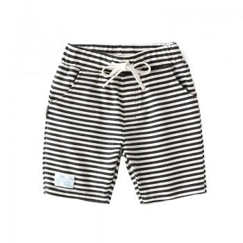 Casual Striped Drawstring Design Shorts for Baby Boy and Boy