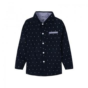 Fashion Formal Anchor Pattern Shirt for Boys