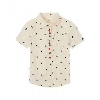 Stylish Polka Dotted Short Sleeves Shirt for Girls