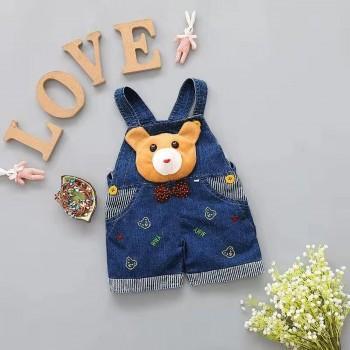 Lovely Bear Applqiue Denim Overalls for 6-18 Months Baby