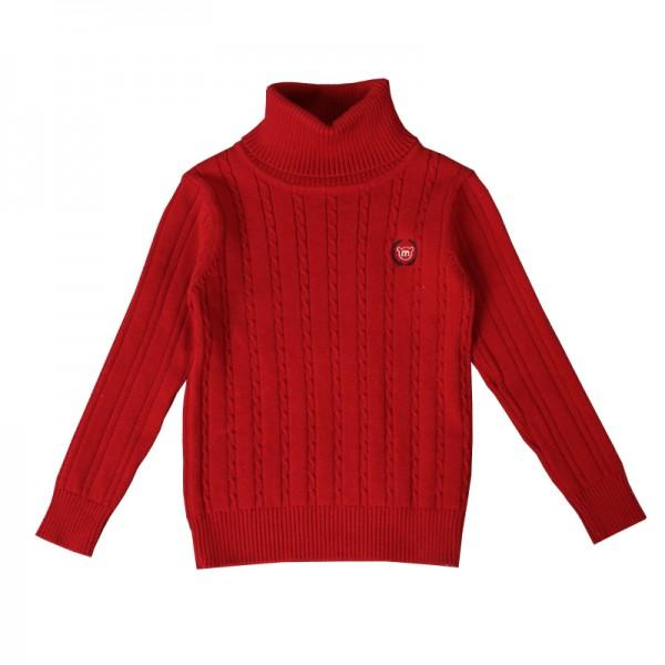 Trendy Turtleneck Knitted Sweater for Toddler Boy and Boy