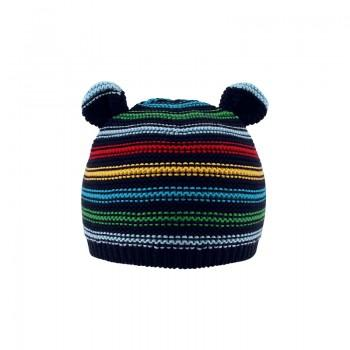 Cute Striped Bear Design Knitted Hat for Baby and Toddler