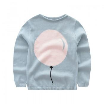 Trendy Balloon Design Long-sleeve Sweater for Kid