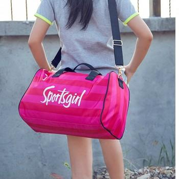 Waterproof SPORTS GIRL Print Travelling Bag with Independent Shoes Bag