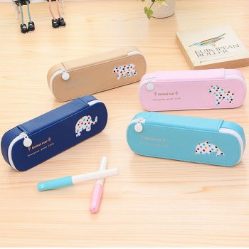Cute GOOD LUCK Animal Decor Pencil Box