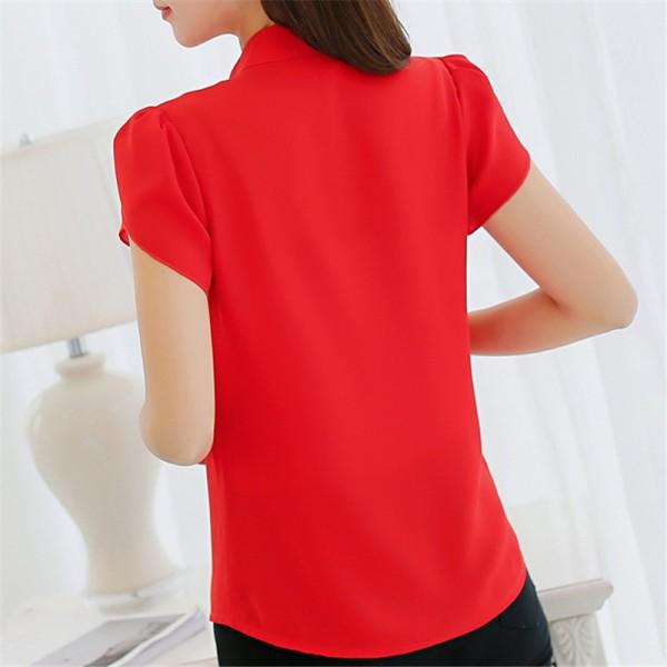 Women's Trendy Tulip Sleeves Solid Chiffon Top