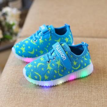 Toddler's Cool Breathable Camouflage LED Sports Shoes