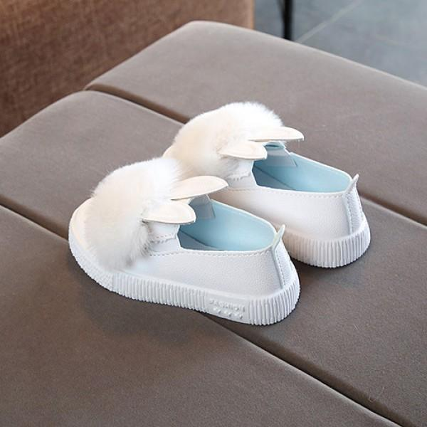 Toddler Girl's Pompom Rabbit Slip-on Sneakers