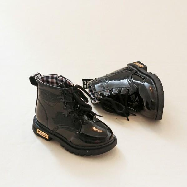 Trendy Glossy Solid Martin Boots for Toddler Girl and Girl