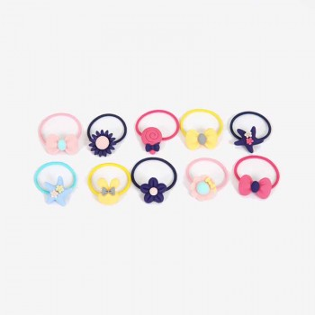 10-piece Lovely  Macaron Elastic Hair Ties for Girls