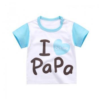 I Love Papa Sweet Short-sleeve Tee for Baby Boys