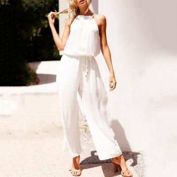 Sassy Loose Cinched Sleeveless Jumpsuit