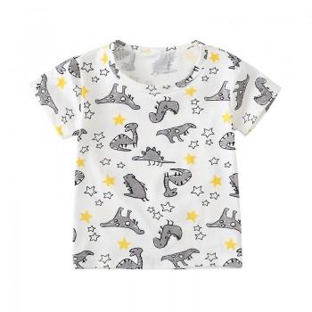Cute Cartoon Dinosaur Allover Short-sleeve Tee for Toddler Boy and Boy