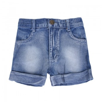 Trendy Turn-up Denim Shorts for Toddler Boy and Boy