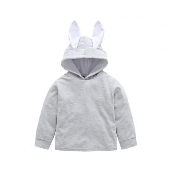Cute Solid Rabbit Design Long-sleeve Hoodie
