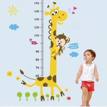Stylish Giraffe Height Measurement Wall Sticker