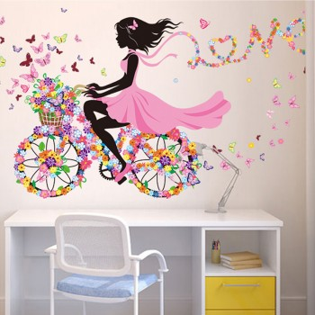 Sweet Removable Fairy Girl Wall Sticker