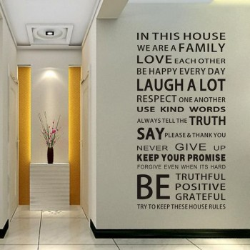 Removable Trendy FAMILY Letter Design Wall Sticker