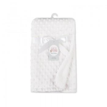 Baby's Solid Comfy Sherpa Lined Blanket