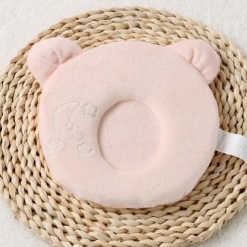 Comfy Solid Fleece Pillow for Newborn