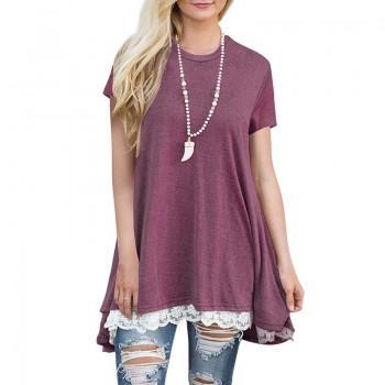 Casual Short-sleeve T-shirt for Women