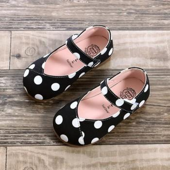 Pretty Polka Dotted Flats for Toddler Girl and Girl