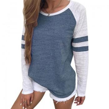 Fashionable Stripe Contrast Top