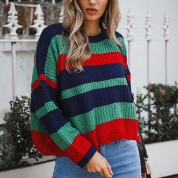 Charming Stripe Long-sleeve Pullover