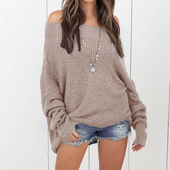 Pretty Off Shoulder Knitted Sweater