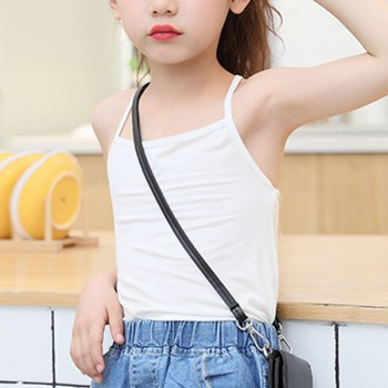 Trendy Solid Back Crossover Tank Top for Girl