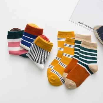 5-pair Striped Socks for Baby Boy and Boy