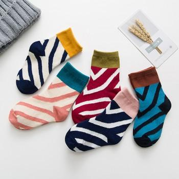 5-pair Comfy Striped Socks for Baby Boy and Boy
