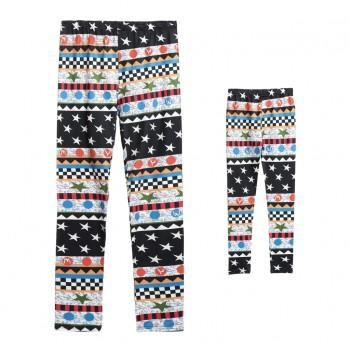 Geometry Design Matching Leggings for Mommy and Me