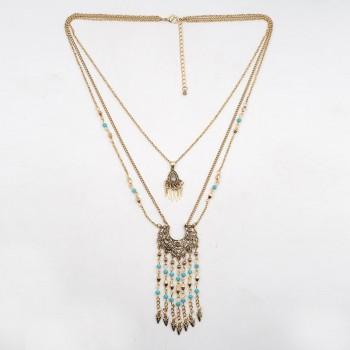 Ethnic Boho Triple Necklace