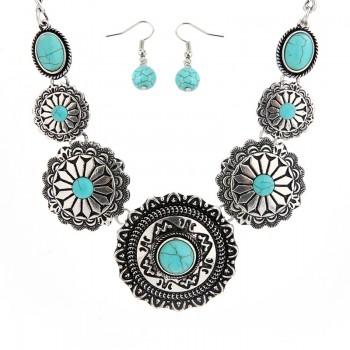 Ethnic Round Pendant Necklace