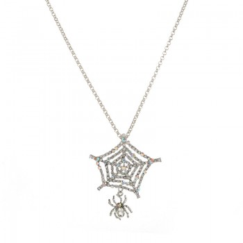 Creative Spider and Web Decor Chain Necklace