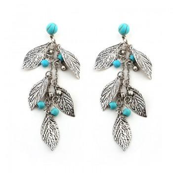 Trendy Leaf Tassel Earrings