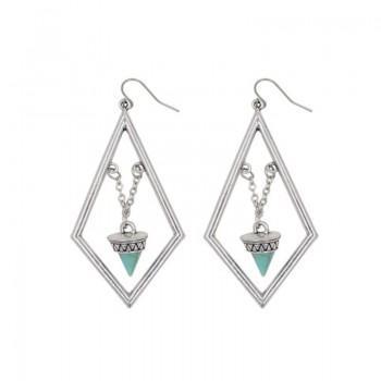 Stylish Graphic Studded Turquoise Boho Earrings