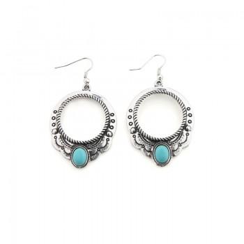 1-pair Retro Round Drop Earrings