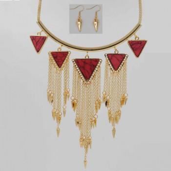 Stylish Ethnic Turquoise Tassel Necklace