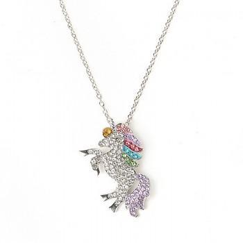 Fashionable Unicorn Pendant Necklace