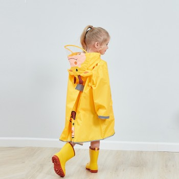 Toddler and Kid's Solid Raincoat for School