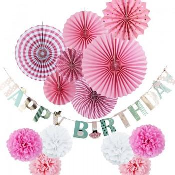 14-piece Happy Birthday Party Decorations Set