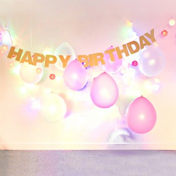 Glitter HAPPY BIRTHDAY Banner Party Decoration